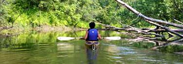 LaPlatte River cedar strip kayak Ann DeMuth