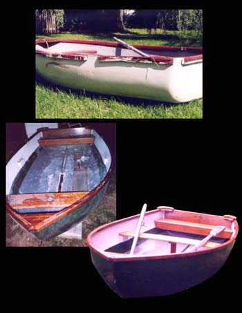 Dyer Dink Dinghy restoration by Ann DeMuth