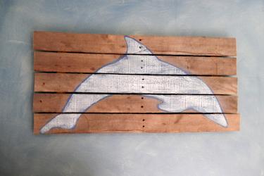 Chalk Paint Dolphin Rustic Reclaimed Wood Ann DeMuth