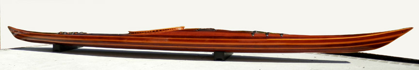 Cedar Strip Kayak custom built by Ann DeMuth