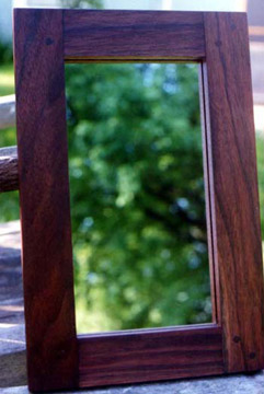 mirror walnut frame by Ann DeMuth