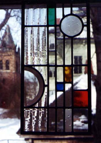 modern art glass stained glass by Ann DeMuth