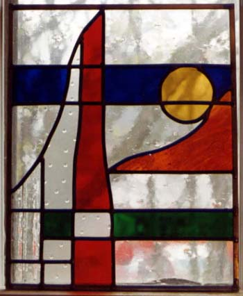 modern stained glass by Ann DeMuth