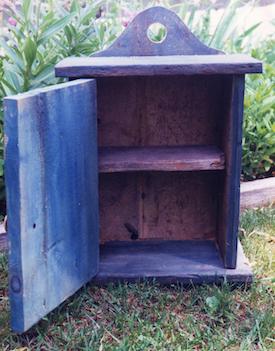Rustic Blue Cabinet, Milk Paint, Reclaimed Wood Ann DeMuth