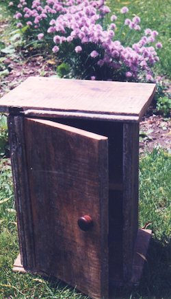 Rustic Reclaimed Wood Cabinet Ann DeMuth