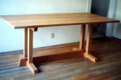 custom table cherry wood by Ann DeMuth